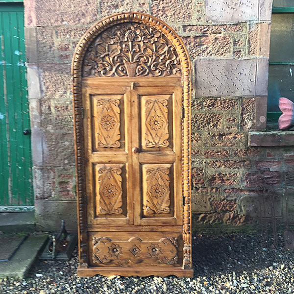 Carved Dome Top Cupboard